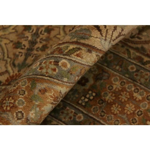 Semi Antique Tabriz Pak-Persian Jerrie Tan/Lt. Brown Wool Rug - 4'0 X 6'6 For Sale - Image 4 of 8
