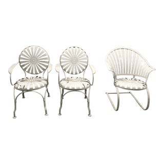 Francois Carre Pinwheel Garden Chairs - Set of 3