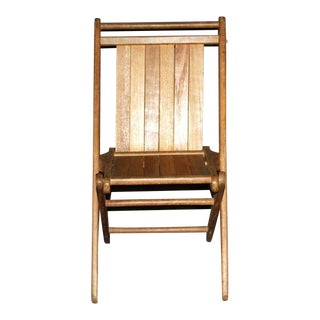 Vintage Maple Folding Chair