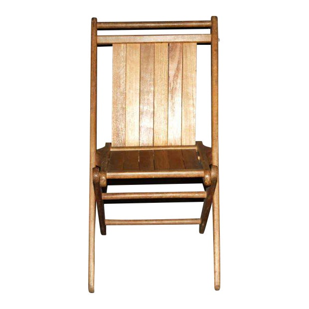 Vintage Maple Folding Chair - Image 1 of 4