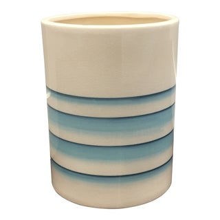 21st Century Vintage Classic Caro Ceramic Wastebasket Planter For Sale