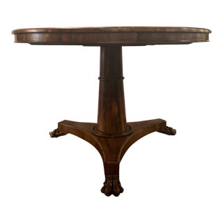 Antique Rosewood Round Center Table, Circa 1880-1890. For Sale