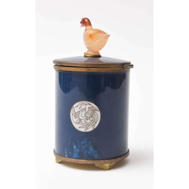Asian Vintage Enameled Cigarette Dispenser For Sale - Image 3 of 8
