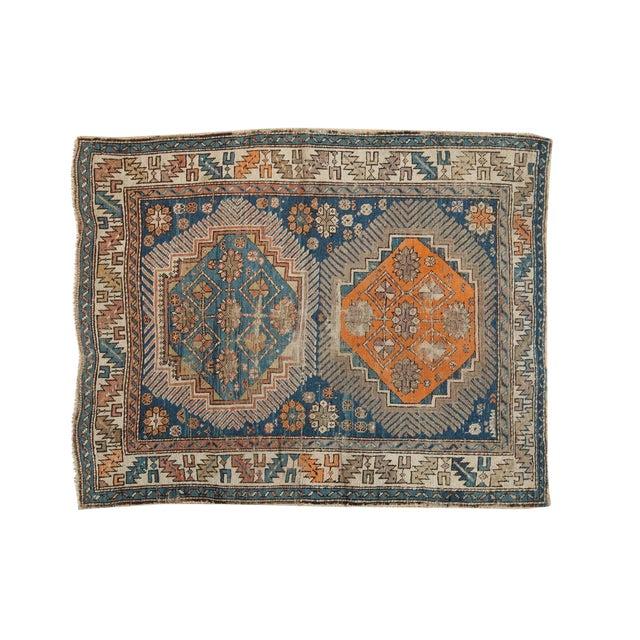 """Antique Caucasian Square Rug - 3'6"""" x 4'4"""" - Image 1 of 10"""