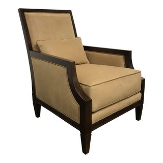 RJones Suede X-Back Lounge Chair For Sale