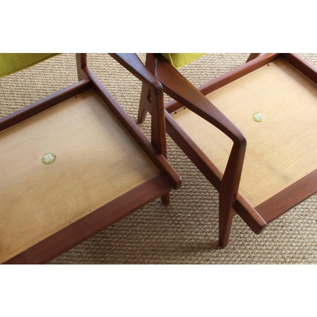 Green Jens Risom Armchairs, U.S.A, 1960s - a Pair For Sale - Image 8 of 10