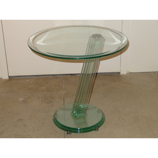 Fontana Arte Style Glass Tables - A Pair - Image 2 of 8