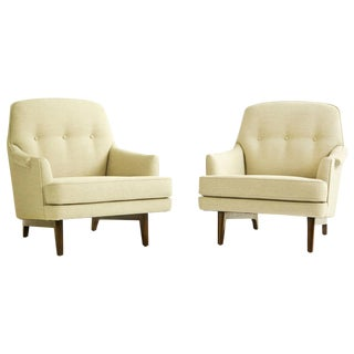 Pair of Edward Wormley Lounges For Sale