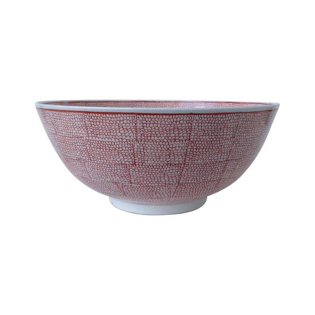Vintage Asian Hand Decorated Porcelain Bowl For Sale