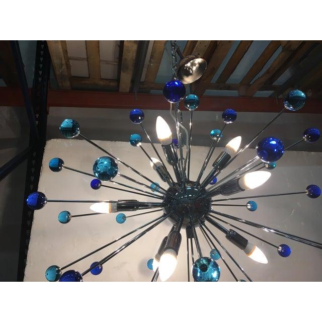 Metal Contemporary Murano Glass Triedo Sputnik Chandelier For Sale - Image 7 of 11