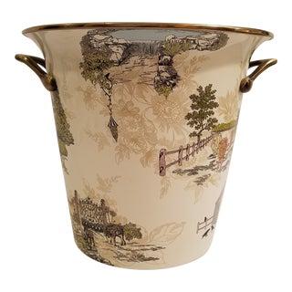 Large MacKenzie Childs Aurora Bucket For Sale