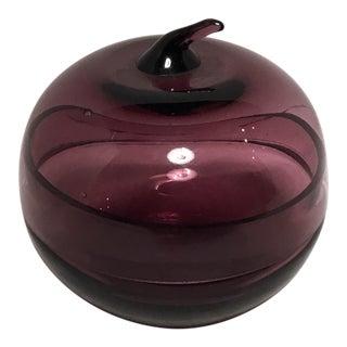 Purple Glass Apple Keepsake Box