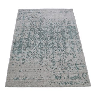 Teal Distressed Rug - 5'3''x 7'7""