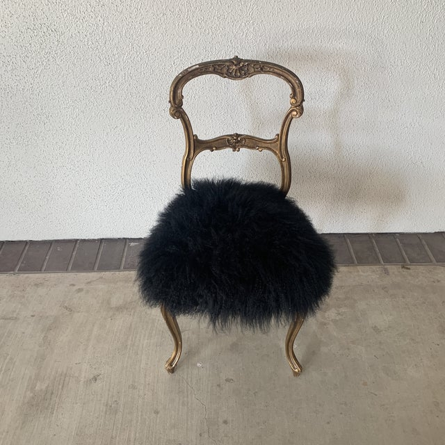 1920s Vintage Gilded Chair For Sale - Image 13 of 13