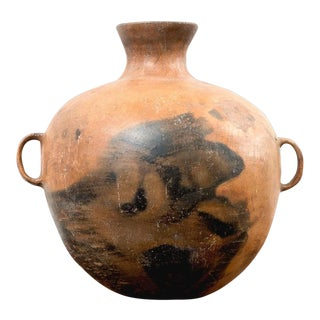 Large 19th Century Guatemalan Water Pot With Three Handles For Sale