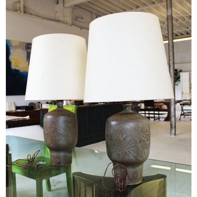 Mid-Century Modern Large Pair of Design Technics Table Lamps by Lee Rosen For Sale - Image 3 of 8