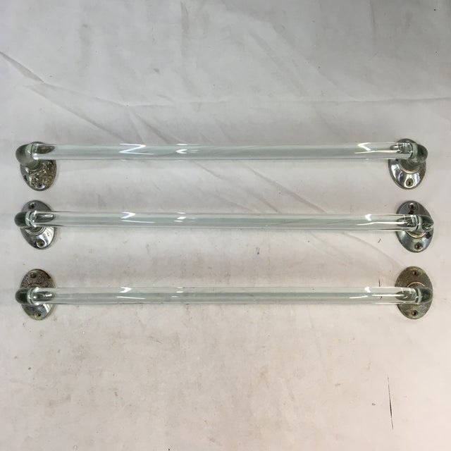 Vintage Lucite Towel Bars With Chrome Hardware - Set of 3 For Sale - Image 13 of 13