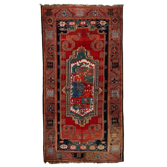 Mid-20th Century Vintage Wool Rug 4' 5'' X 8' 8''. For Sale - Image 13 of 13