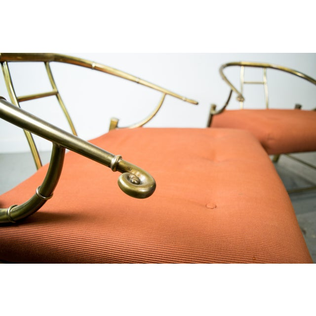 Brass Lounge Chairs by Mastercraft - Pair - Image 7 of 10