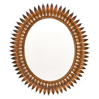 Spanish Tole Sunburst Mirror For Sale