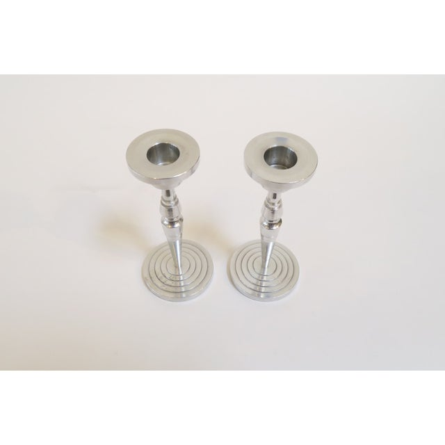 Industrial Silver Candlesticks - a Pair - Image 4 of 5