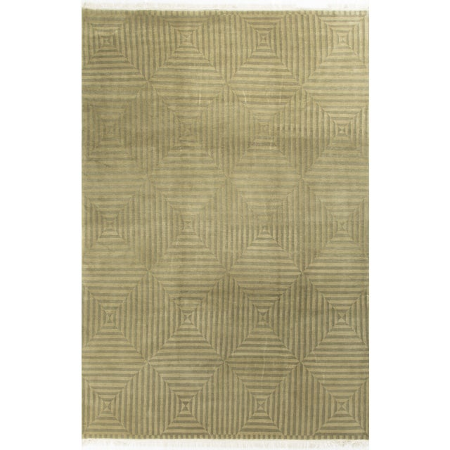 Modern Hand-Knotted Wool Rug - 8′9″ × 12′8″ - Image 1 of 4