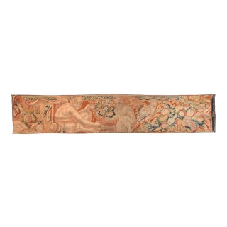 Antique Red Belgian Tapestry Area Rug For Sale