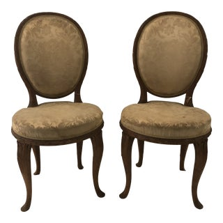 Early 20th Century French Faux Bois Side Chairs- a Pair For Sale
