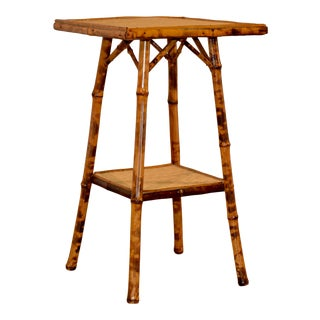 19th Century Tortoise Bamboo Side Table For Sale