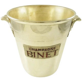 1950s Mid-Century French Silver Plate Champagne Bucket Wine Cooler For Sale