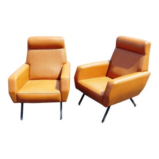 Italian Mid-Century Modern Lounge Chairs - a Pair For Sale
