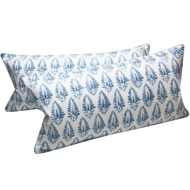 Contemporary Jalisa Copen Indian Print Pindler Blue and White Pillow Cover For Sale - Image 3 of 6