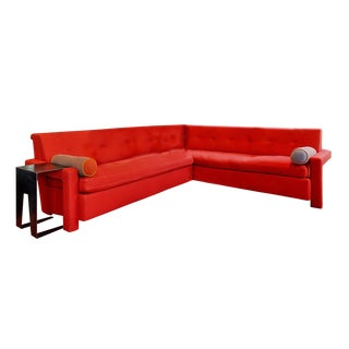 Morlen Sinoway Custom Sofa Sectional and Iron Side Table For Sale