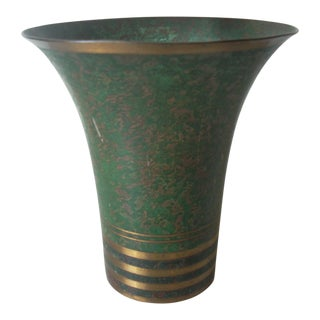 Small Carl Sorensen Neoclassic Copper Cachepot For Sale