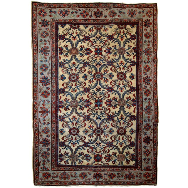 1900s Handmade Antique Persian Mahal Rug 9.2' X 11.6' For Sale - Image 11 of 11