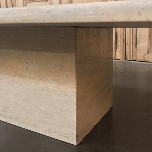White Mid-Century Limestone Coffee Table For Sale - Image 8 of 13