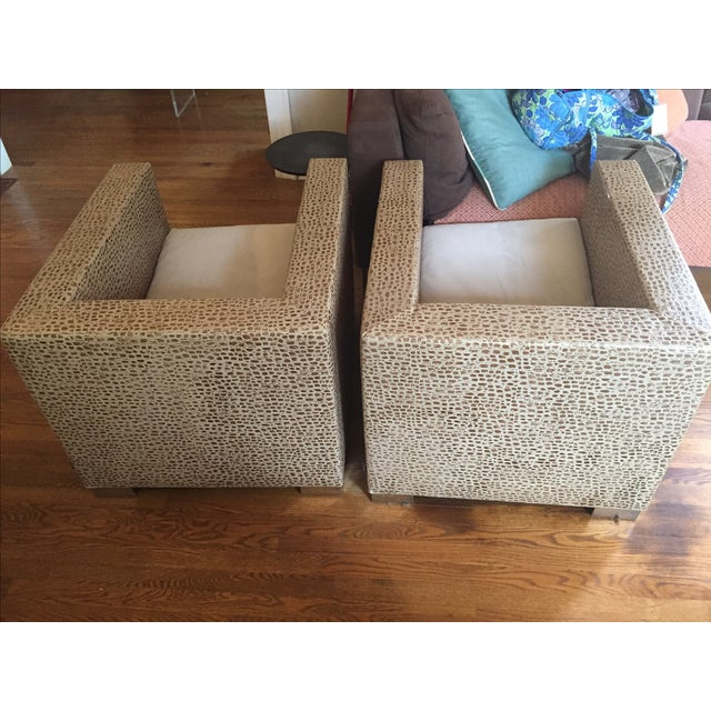 Minotti Suitcase Chairs - Pair - Image 5 of 7
