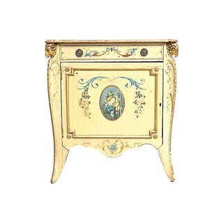 19th Century Shabby Chic Floral & Ram's Head Cabinet For Sale