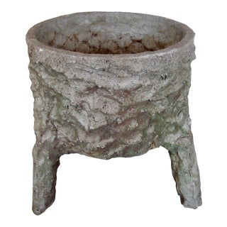 Vintage Garden Rustic Country French Concrete Planter For Sale