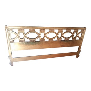 1960s Hollywood Regency King Size Headboard For Sale