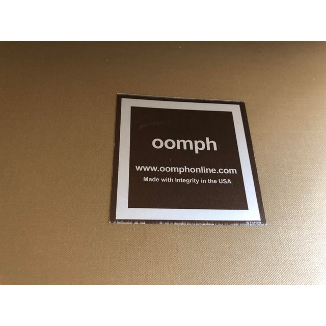 2010s Modern Linen Oomph Gossip Chair For Sale - Image 5 of 6