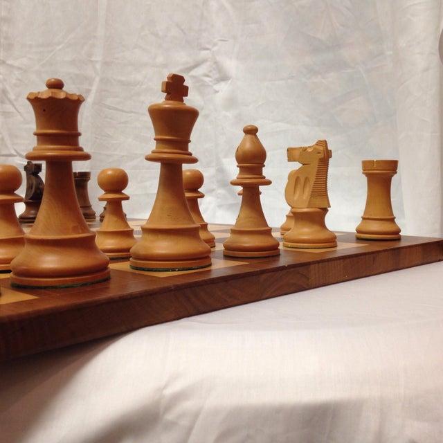Vintage Drueke & Sons Chess Set in Walnut For Sale - Image 4 of 8