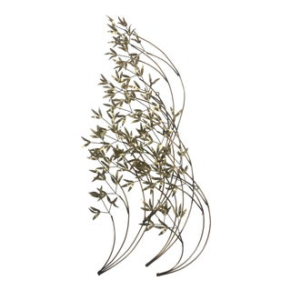Curtis Jere Brass Bamboo Leaves Wall Art For Sale