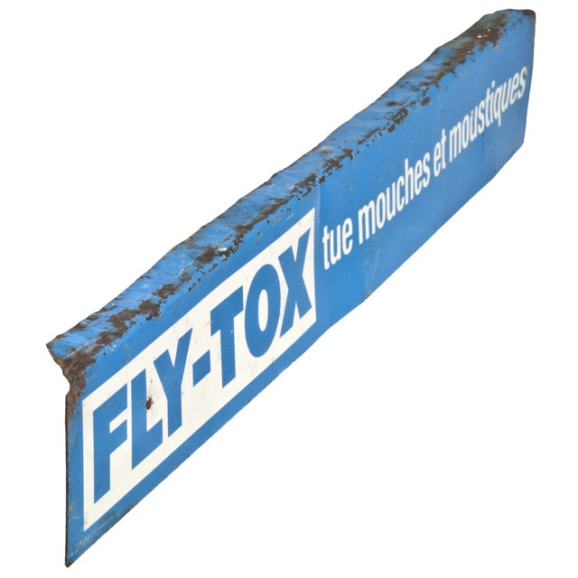 Vintage French Metal Fly-Tox Sign - Image 2 of 3
