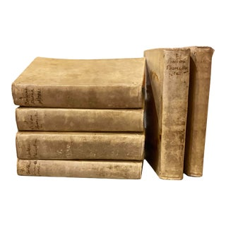 1760s Vellum Bound Books - Set of 6 For Sale