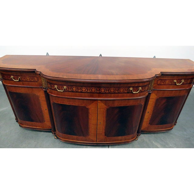 Decorative Crafts Regency Style Inlaid Sideboard For Sale In Philadelphia - Image 6 of 13