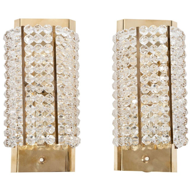Lucite and Brass Sconces - A Pair For Sale In New York - Image 6 of 6