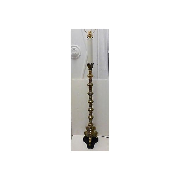 Classic Style Brass Floor Lamp - Image 5 of 7