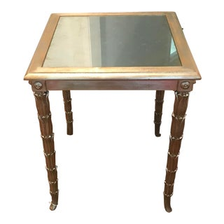 John Richard Mirrored End Table For Sale