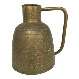 Handcrafted Brass Pitcher With Islamic Calligraphy Writing For Sale